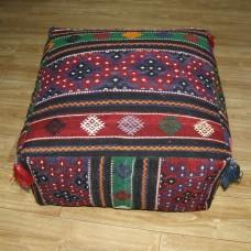 Large Ottoman Pouf Turkish Kilim Rug Floor Pillow Throw Big Kelim Puff