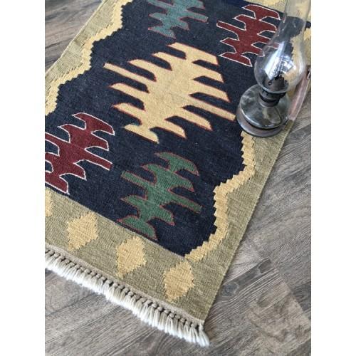 "23"" x35"" Vintage Handmade Turkish Little Kilim Rug Free Shipping Usa"