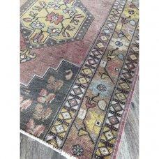 "3' 11"" x 6' Distressed Rug Handmade Distressed Vintage Carpet"