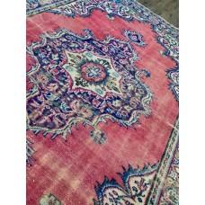 """7'3"""" x 9'8"""" Distressed Vintage Handmade Turkish Rug"""