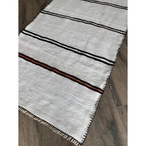 Hemp Runner Stripe Handmade Vintage Hallway Kitchen Bedroom Kilim Decor