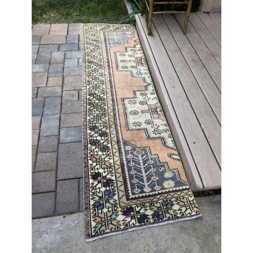 Vintage Modified Turkish Rug Runner 2'x7' Old Area Decor Carpet Throw