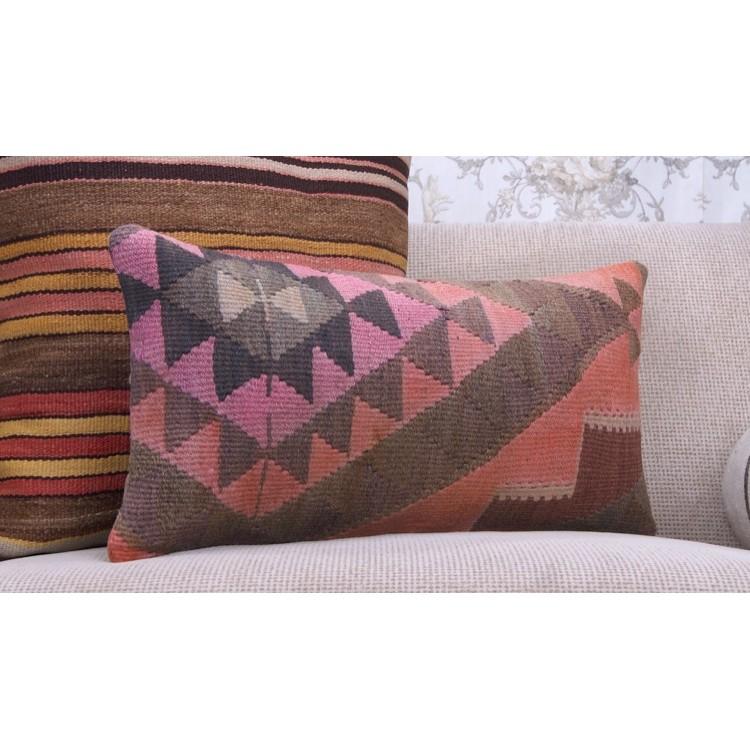 "Turkish Kilim Pillow Home Decor Decorative Pillow Home: 12x24"" : Eastern Lumbar Kilim Pillow"