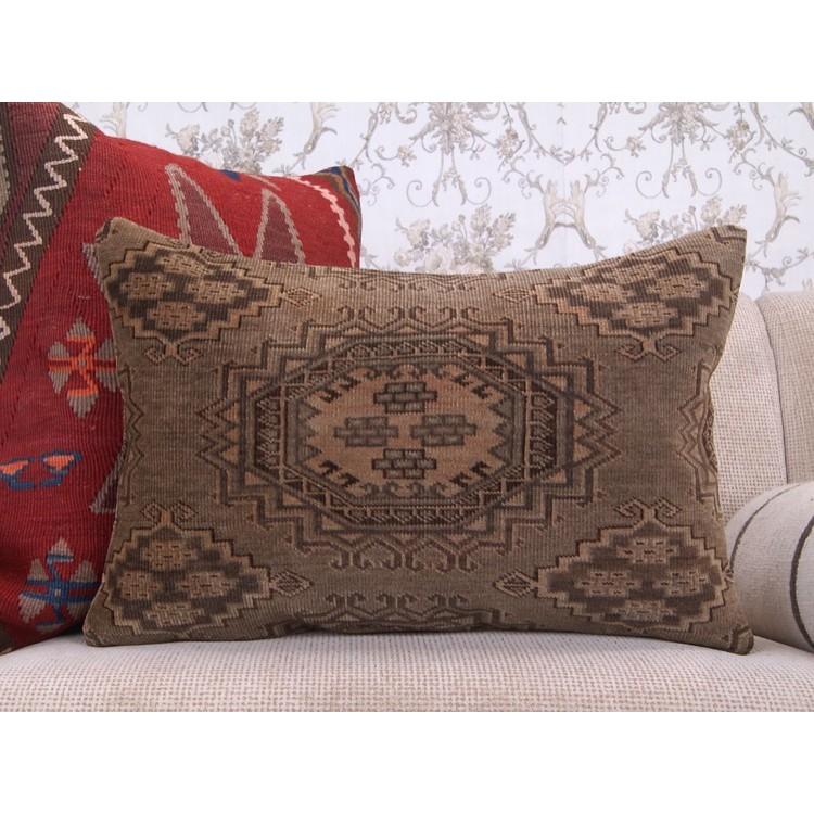 Rot Handgemacht Teppich Kissen 40x60 Orientalisch Turkisch Kissenbezug