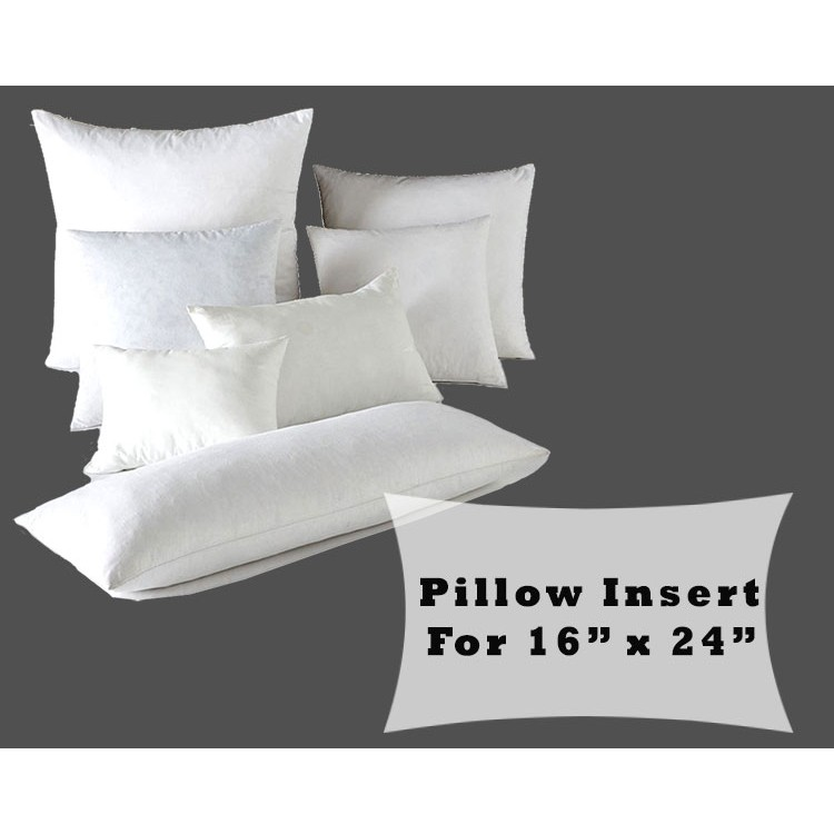 16 X 24 Pillow Insert.Lumbar Pillow Form Insert Polyester Fiber Fill For 16x24 Pillow Covers