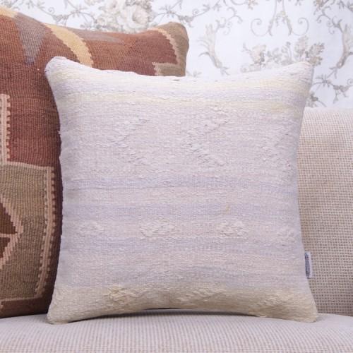 """Cottage Decor Throw Kilim Pillow 16x16"""" Square Turkish Rug Pillowcase"""