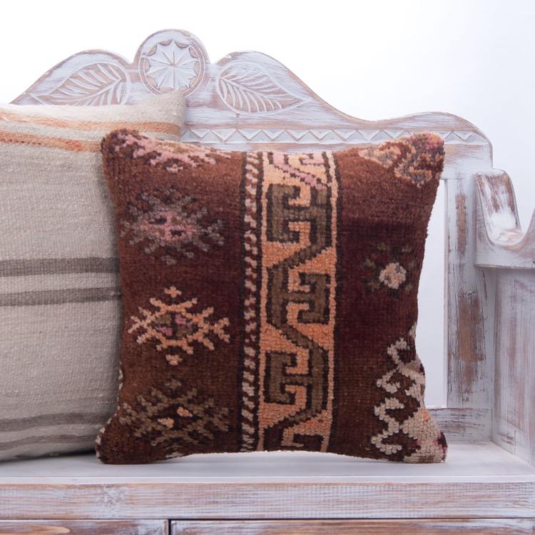 Decorative Brown Rug Pillow 16\