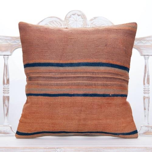 """Striped Vintage Kilim Pillowcase 20x20"""" Antique Home Decor Sofa Throw"""